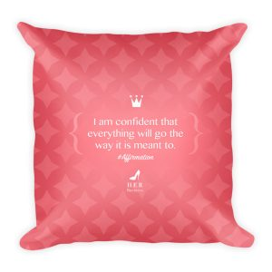 Reassurance Affirmation Pillow – Pink